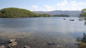 Loch Morar beautiful Scotish loch in the highlands West Scotland uk stock video footage