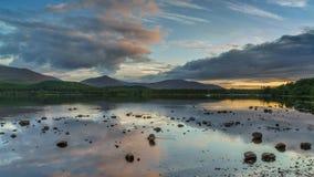 Loch Morlich al tramonto Fotografia Stock Libera da Diritti