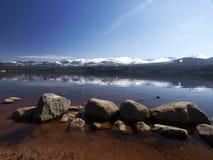 Loch morlich aviemore Schotland Stock Afbeeldingen