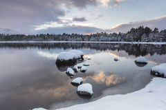 Loch Morlich in the Cairngorms National Park of Scotland. Stock Photo