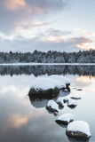 Loch Morlich in the Cairngorms National Park of Scotland. Royalty Free Stock Images