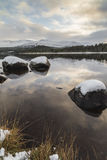 Loch Morlich and the Cairngorms in Scotland. Royalty Free Stock Image