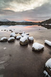 Loch Morlich and the Cairngorms in Scotland. Royalty Free Stock Images