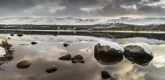 Loch Morlich in the Highlands of Scotland. Royalty Free Stock Photography