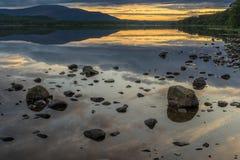 Loch Morlich at sunset Stock Photos