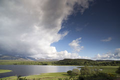Loch and mountain landscape in the cairngorm national park, scot Stock Image