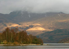 Loch and Mountain of Scotland Stock Image