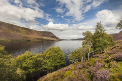 Loch Muick in Scotland. View down Loch Muick in Aberdeenshire, Scotland royalty free stock photography