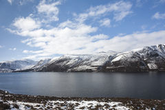 Loch Muick in Winter at Glen Muick in Aberdeenshire. Loch Muick in Winter at Glen Muick  n Aberdeenshire in the Scottish highlands Stock Image