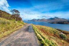 Loch Na Keal op het Eiland van Mull stock foto's