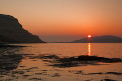Loch Na Keal sunset Stock Photo