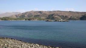 Loch nan Uamh Lochaber Scotland west coast of Scottish Highlands near Arisaig on the A830 pan stock footage