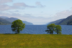Loch ness. View on the Loch Ness from Fort Augustus Stock Image