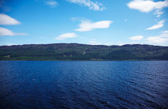Loch Ness. View at lake Loch Ness, Highland, Scotland Royalty Free Stock Photos