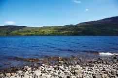Loch Ness. View at lake Loch Ness, Highland, Scotland Royalty Free Stock Photo
