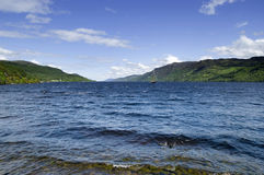 Loch Ness. The famous Loch Ness in the scottish highlands Royalty Free Stock Images