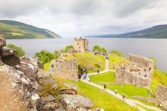 Urquhart castle lockness scotland england in summer Royalty Free Stock Photo