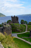 Loch Ness in the Background of Urquhart Castle Stock Photography