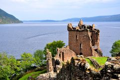 Loch Ness, castillo de Urquhart Fotografía de archivo libre de regalías