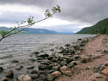 Loch Ness in a cloudy day Royalty Free Stock Photo