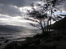 Loch Ness. A dark and stormy view south across Loch Ness Stock Image