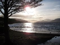 Loch Ness de Dores Images stock