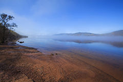 Loch Ness in the early morning time. stock photo