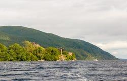 Loch Ness en el tiempo melancólico, Escocia Fotografía de archivo libre de regalías