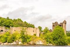 Loch Ness en el tiempo melancólico, Escocia Imágenes de archivo libres de regalías