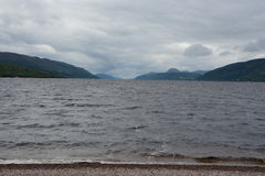 Loch Ness en nuage Photographie stock