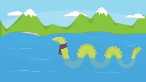 Loch Ness et monstre illustration libre de droits