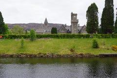 Loch Ness - fort Augustus - abbotskloster Fotografering för Bildbyråer