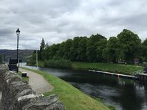 Loch Ness. In Fort Augustus Stock Photography