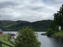 Loch Ness. In Fort Augustus Stock Photo