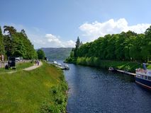 Loch ness. Fort augustus lochness Stock Photo