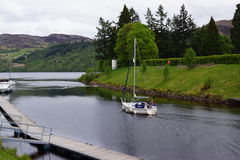 Loch Ness at Fort Augustus Royalty Free Stock Photography