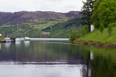 Loch Ness at Fort Augustus Royalty Free Stock Photos