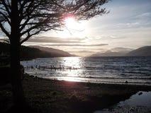 Loch Ness från Dores Arkivbilder