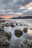 Loch Ness in the Highlands of Scotland. Loch Ness south-side in the Highlands of Scotland Stock Image