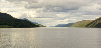 Loch Ness, Highlands, Scotland. A view of Loch Ness as viewed from the town of Fort Augustus Stock Photos