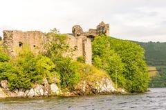 Loch Ness i dystert väder, Skottland Fotografering för Bildbyråer
