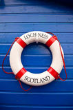 Loch Ness lake in scotland. A lifebuoy from Loch Ness lake in Scotland Royalty Free Stock Image