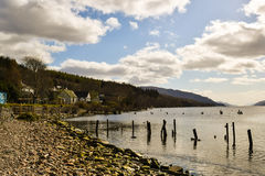 Loch ness lake in Scotland Royalty Free Stock Photography