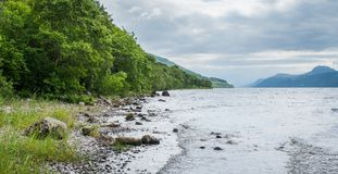 On the shore of Loch Ness, in the Scottish Highlands, southwest of Inverness. royalty free stock photo