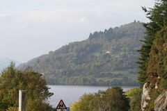 Loch Ness / Lochness. Loch Ness is a very large and deep freshwater loch which is located in the Highlands of Scotland. It is famous of the Myth about the Loch Stock Photography