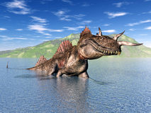 The Loch Ness Monster. Computer generated 3D illustration with the Loch Ness Monster vector illustration