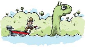Loch Ness Monster Hunter Photographie stock libre de droits