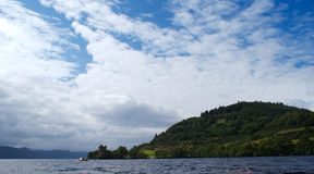 Loch ness monster in scotland Stock Photography
