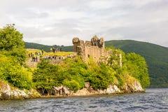 Loch Ness no tempo sombrio, Escócia Imagem de Stock Royalty Free