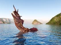 Loch Ness Potwór royalty ilustracja